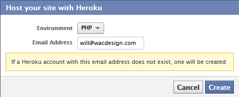 Host your Facebook apps with Heroku