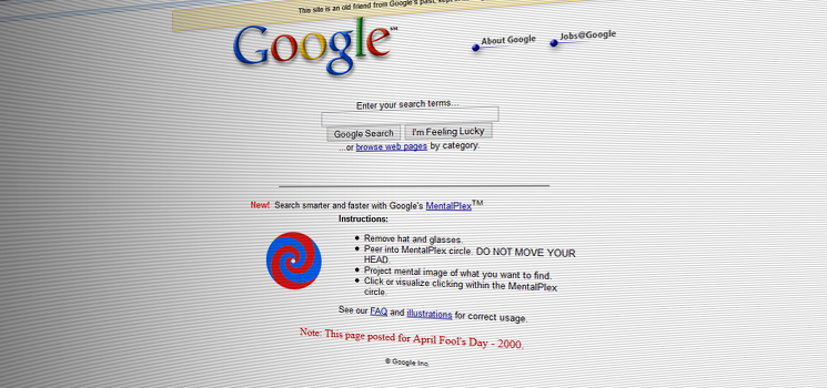 Google April Fools' MentalPlex