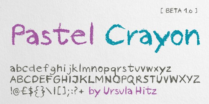 Pastel Crayon Font
