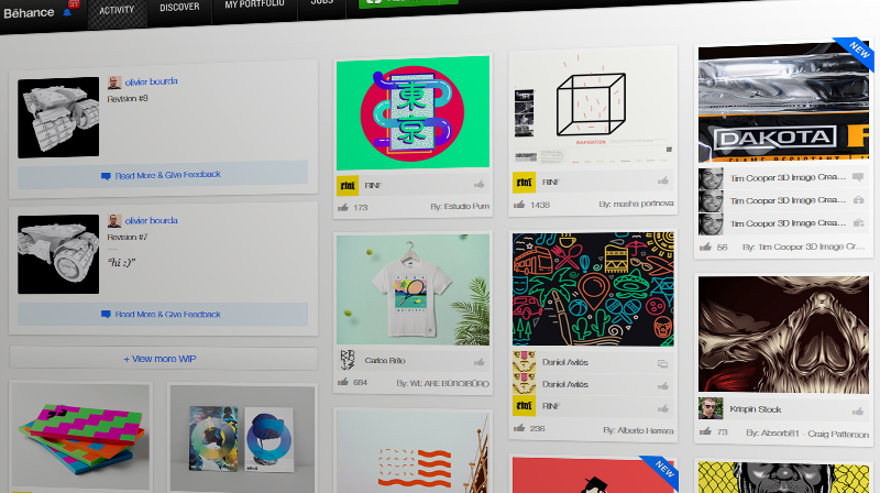 behance screen shot