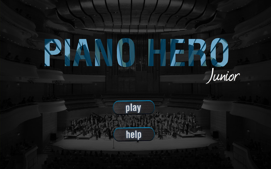 Piano Hero app design