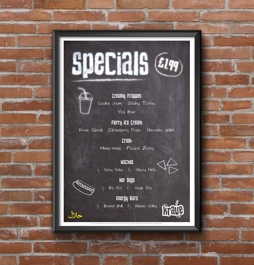 Krave poster design