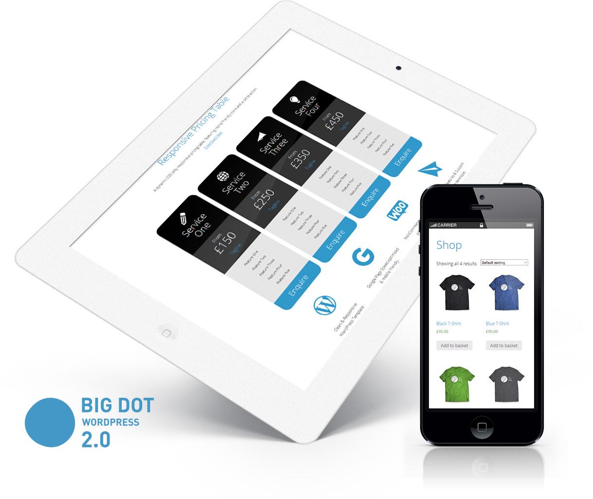 Big Dot 2.0 Free WordPress theme