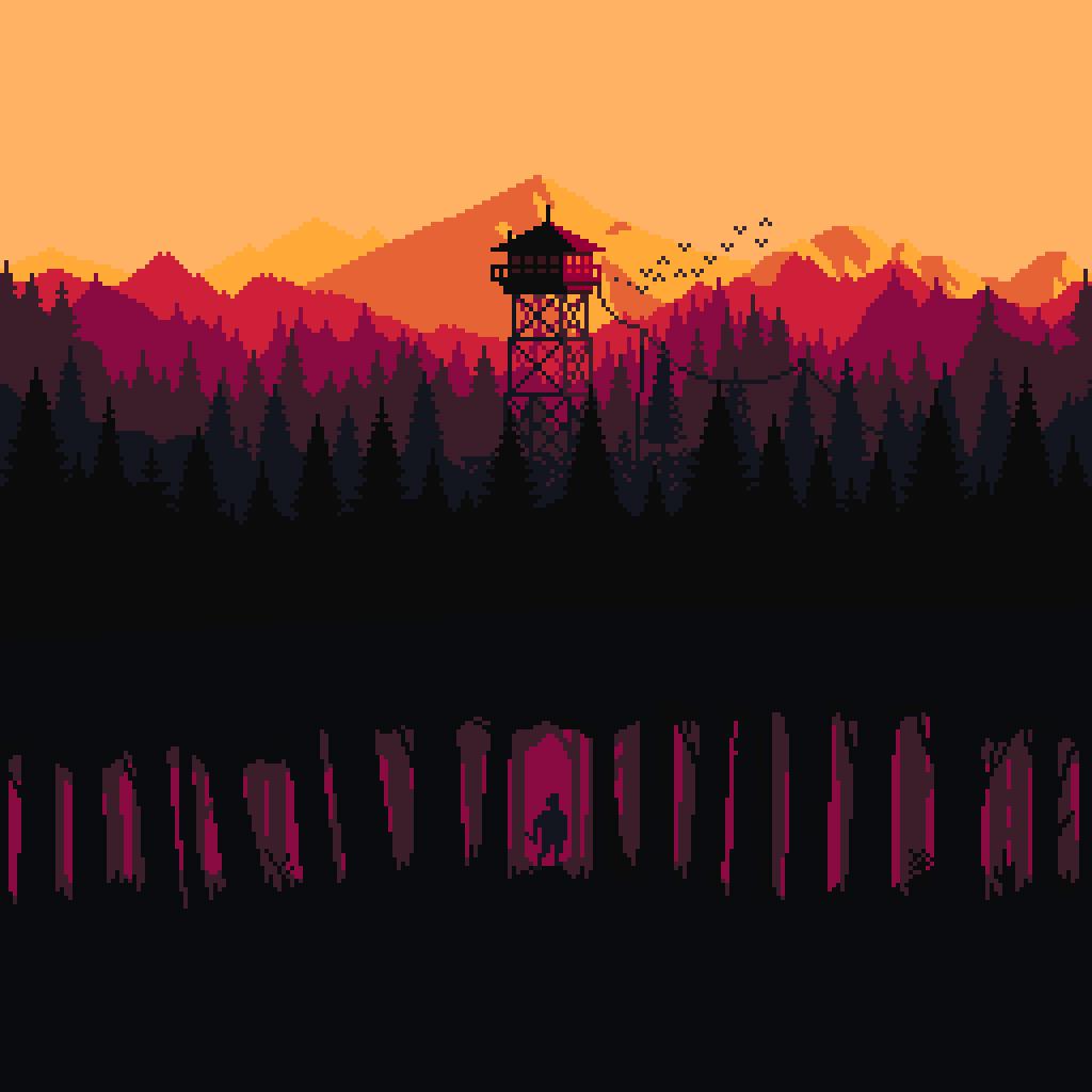 Firewatch pixel art
