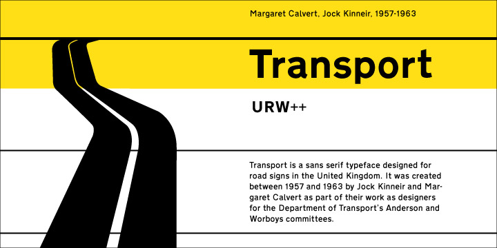 Transport Font
