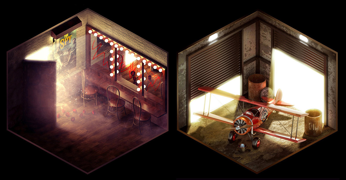 Isometric Rooms with Stories