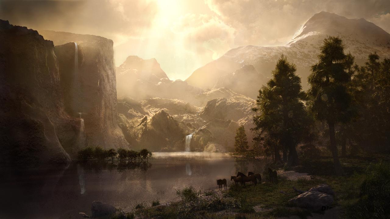 Bierstadt's Sierra Nevada
