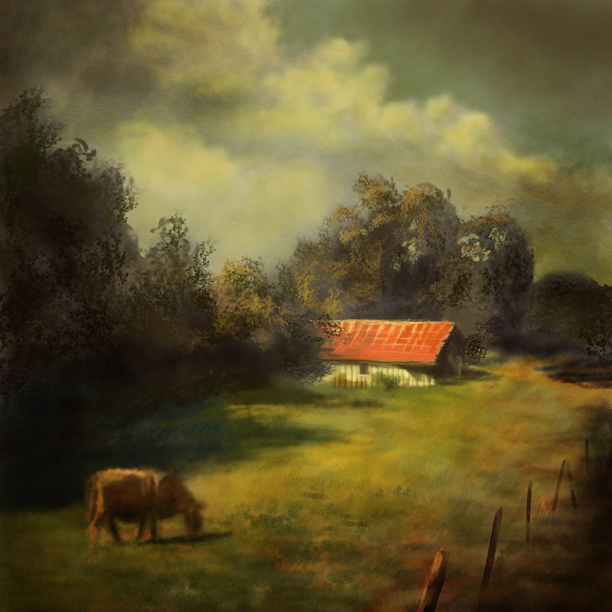 Landscape Cow Barn