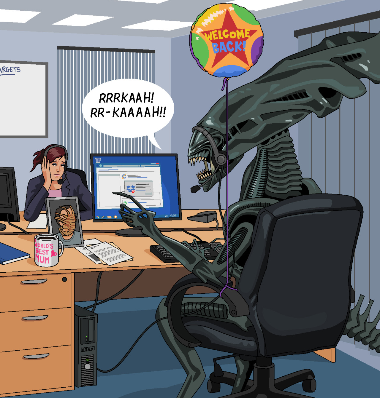 The Alien Queen, back off maternity leave