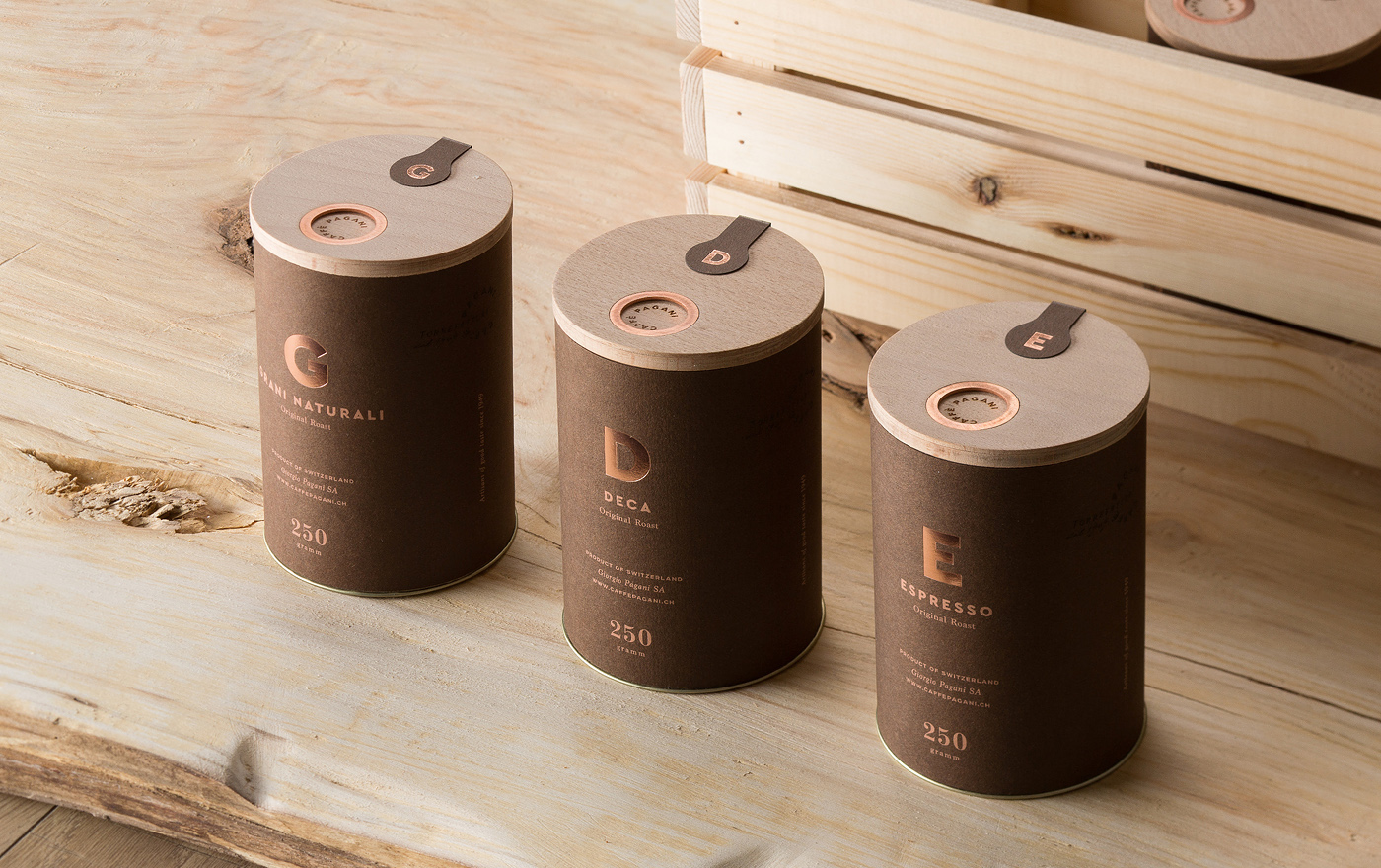Caffè Pagani Packaging