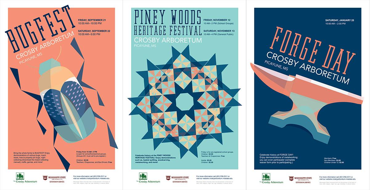 Crosby Arboretum Posters
