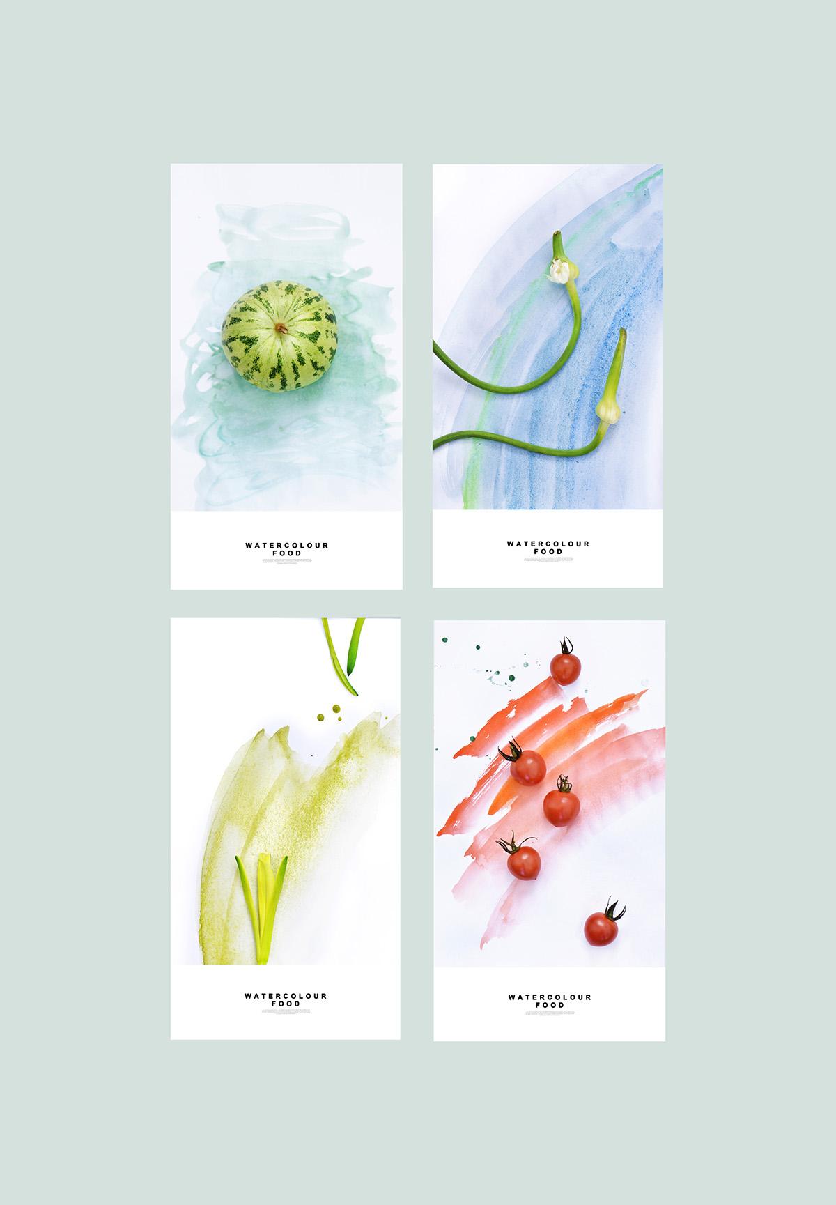 Watercolor Food - Yum Tang