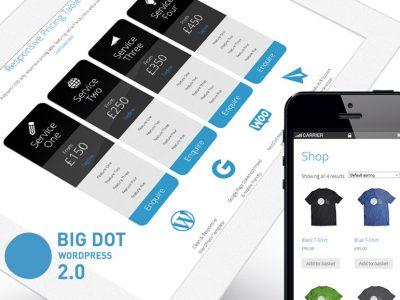Big Dot 2.0 Free WordPress theme featured