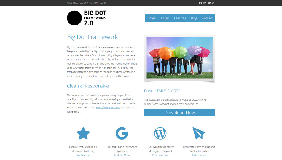 Big Dot Framework Screenshot