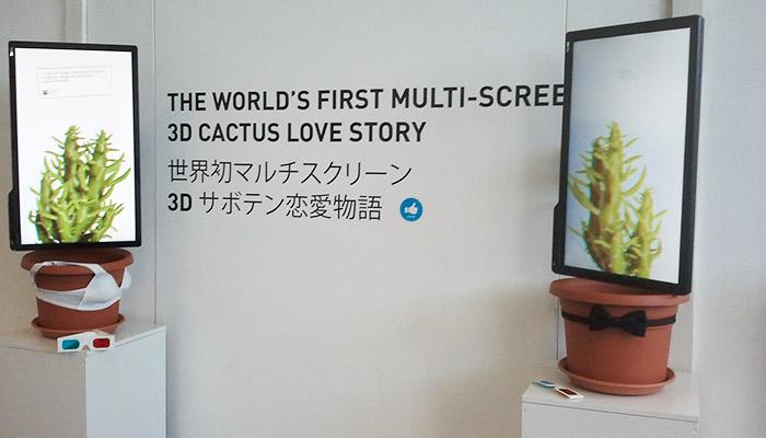 3D Cactus Love Story Exhibition